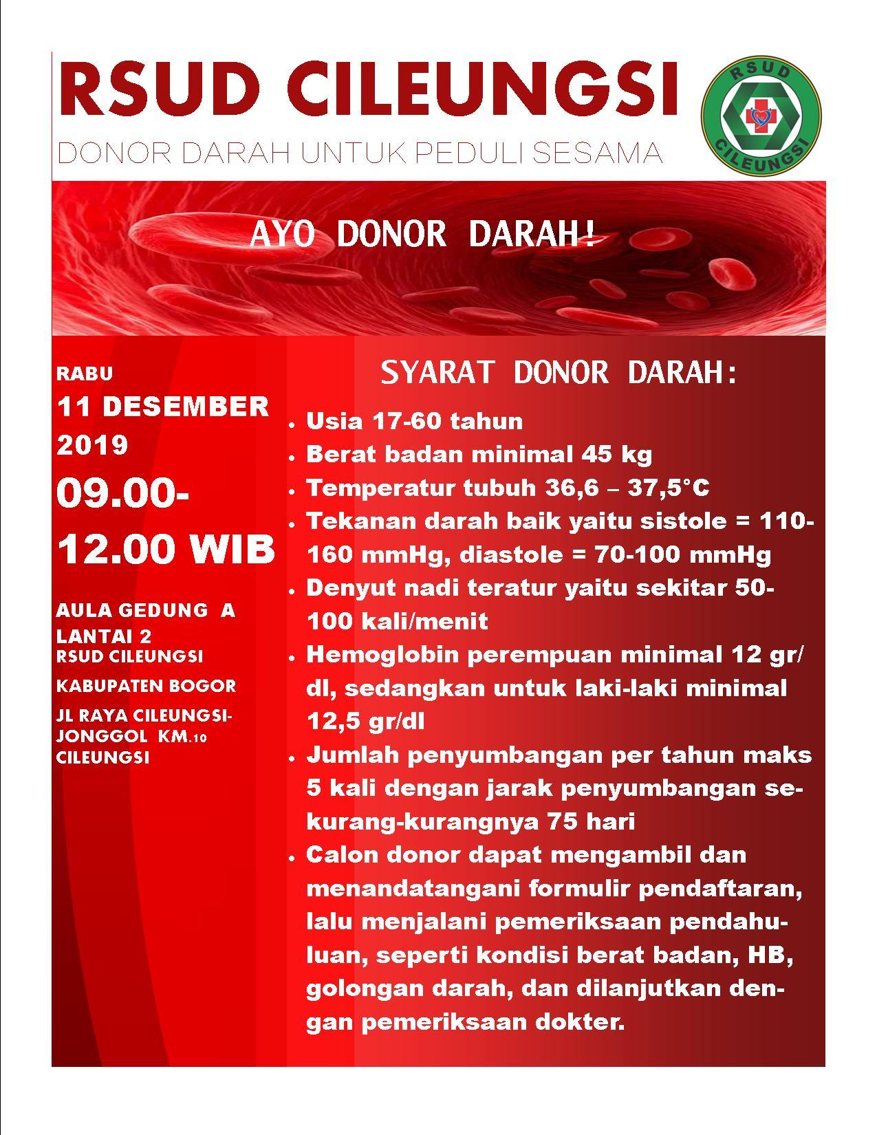 Aksi Donor Darah RSUD Cileungsi